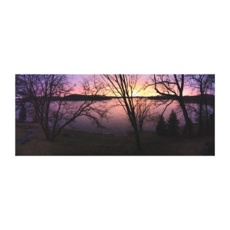 "Purple Glow     60""x24"" Canvas Print"