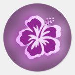 purple glow designs round stickers