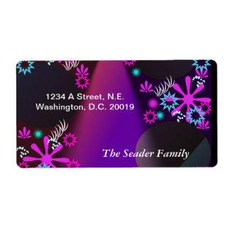 Purple Glow Personalized Return Address
