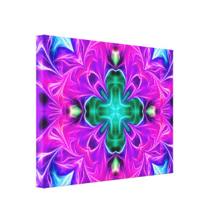 Purple Glowing Abstract Stretched Canvas Print