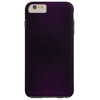 Purple glowing geometric flower tough iPhone 6 plus case