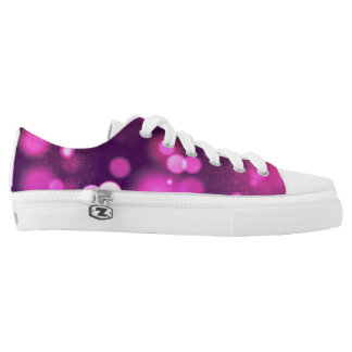 Purple Glowing Lights & Sparkles Low Tops