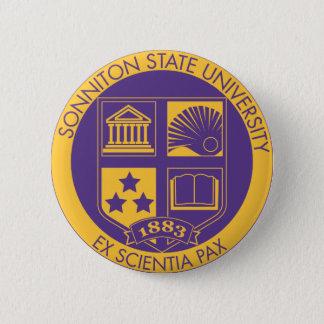 Purple/Gold 6 Cm Round Badge