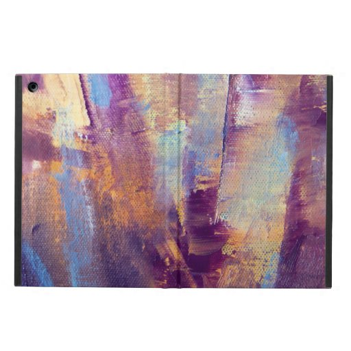 Purple & Gold Abstract Oil Painting Metallic iPad Air Covers