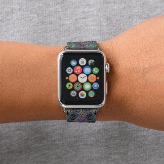 Purple Gold and Teal Mandala Apple Watch Band