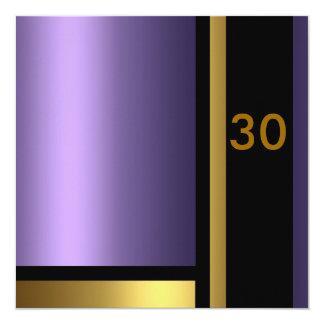 Purple & Gold Birthday Invitation