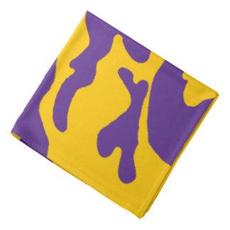 Purple Gold Camouflage Bandana