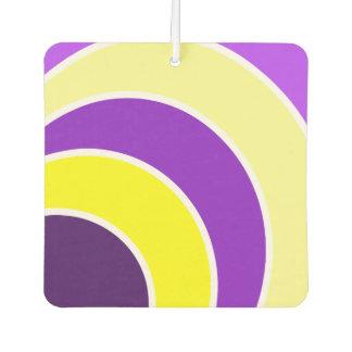 Purple & Gold Circles Car Air Freshner Car Air Freshener