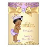 Purple Gold Damask Princess Baby Shower Ethnic 13 Cm X 18 Cm Invitation Card