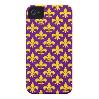 Purple Gold Fleur de Lis iPhone 4/4S Case