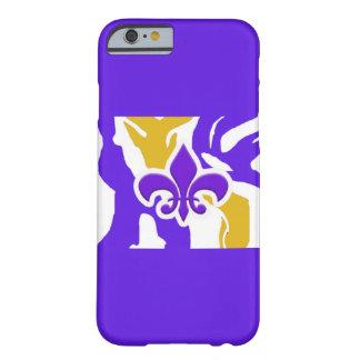 Purple & Gold Fleur de Lis iPhone Case