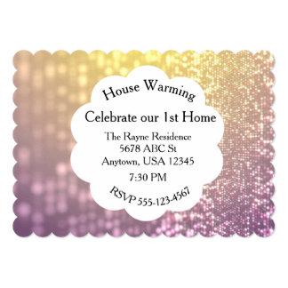 Purple & Gold Glitter Invitation