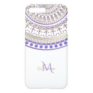 Purple Gold Half Mandala on Any Colour iPhone 7 Plus Case