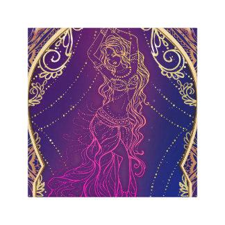 Purple & Gold Moroccan Arabian Belly Dancing Glam Canvas Print
