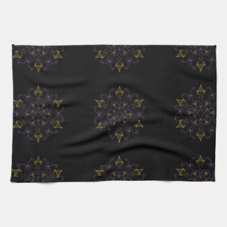 Purple & Gold Passion Flames of Silk Towels
