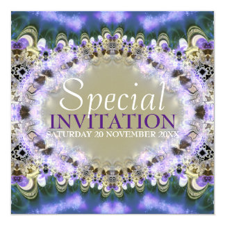 Purple Gold Royal Princess Birthday Invitation