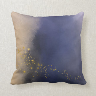 Purple Gold Splatter Ombre Throw Pillow