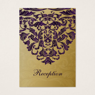 purple gold wedding Reception Cards