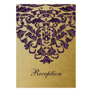 purple gold wedding Reception Cards Pack Of Chubby Business Cards