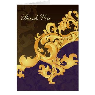 purple gold wedding ThankYou Cards