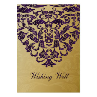 purple gold wishing well cards pack of chubby business cards