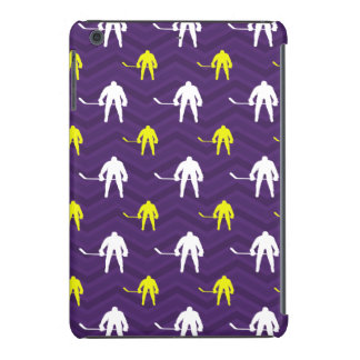 Purple, Gold Yellow, White, Ice Hockey, Chevron iPad Mini Case