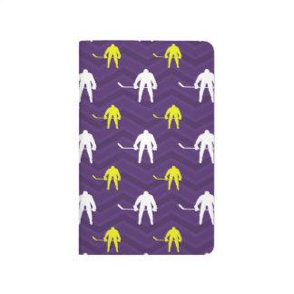 Purple, Gold Yellow, White, Ice Hockey, Chevron Journals
