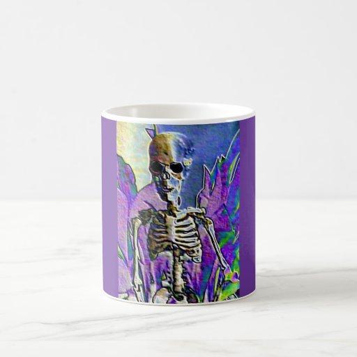 Purple Goth Skeleton Mug
