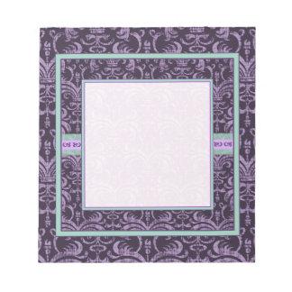 Purple Gothic Grunge Elegant Notepad
