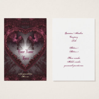 Purple Gothic Heart 001 Business Card