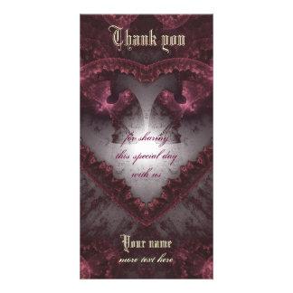 Purple Gothic Heart 001 Photo Card
