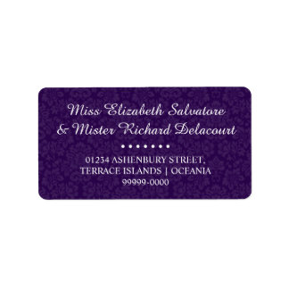 Purple Gothic Victorian Wedding Address Labels