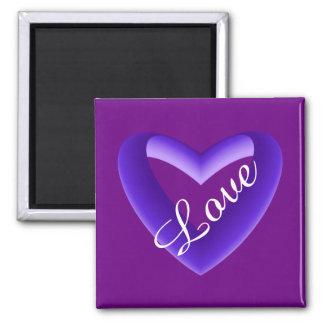 Purple Gradient Heart Magnet