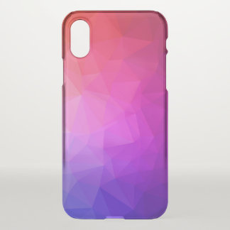 Purple Gradient Modern Geometric Pattern iPhone X Case