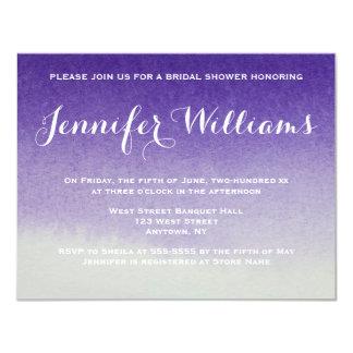 Purple gradient ombre bridal shower invitations