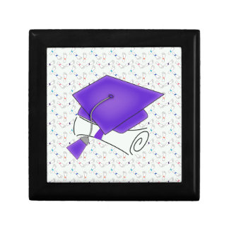 Purple Graduation Cap & Diploma, Colorful Diplomas Gift Box