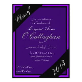 Purple Graduation Party Invitation