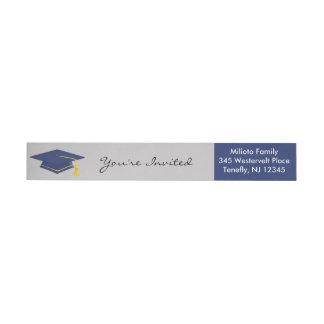Purple Graduation Wraparound Return Address Label