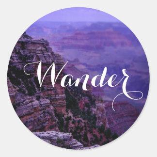 Purple Grand Canyon Sticker