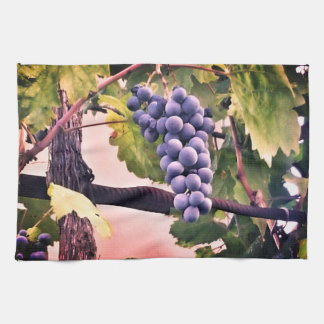 Purple grape dish towel