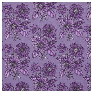 Purple Grape Floral Bouquet Fabric