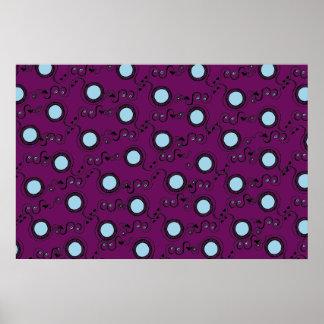 Purple grape spots print