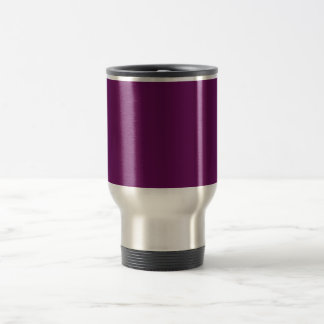 Purple grape stainless steel travel mug