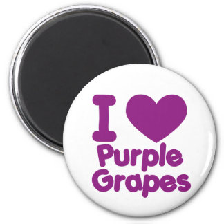 Purple Grapes 6 Cm Round Magnet