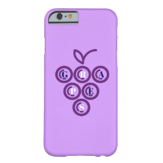 Purple grapes barely there iPhone 6 case