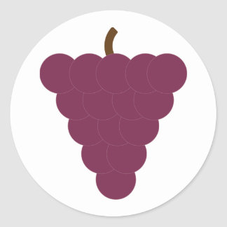 Purple Grapes Bunch Fruit Classic Round Sticker