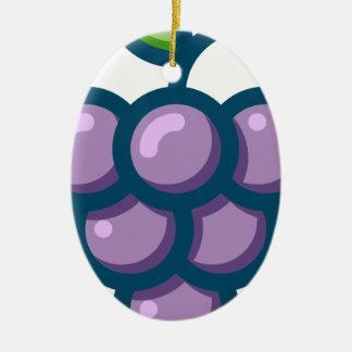 Purple Grapes Ceramic Ornament