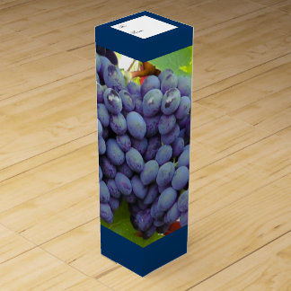 Purple Grapes Custom Wine Box