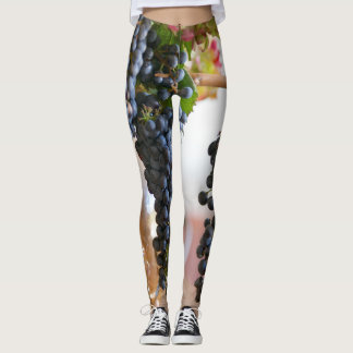 Purple Grapes Leggings