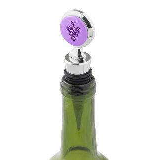 Purple grapes wine stopper